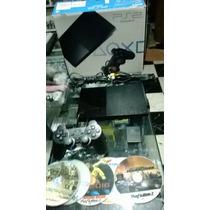 Playstation 2 Slim Desbloqueado Usado Completo Para Jogar!!!