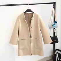 Abrigos Dama Temporada Moda Japonesa Doble Vista Bolsillos