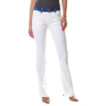Calça Jeans Multi Ponto Denim Flare White Jeans