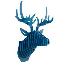 Venado Azul Cabeza Decorativa Animal Decoracion Valchromat8m