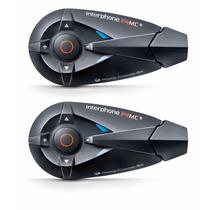 Intercomunicador Capacete Comunicador Interphone Duplo F4 Mc