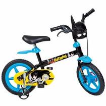 Bicicleta Infantil Masculina Batman Aro 12 Com Rodinhas