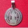 Medalla Dije San Benito Acero Quirúrgico Col Plata