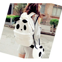 Set De Mochila Con Bolsa Oso Panda Kawaii Moda Japonesa