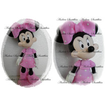 Adorno Para Torta Minnie Mouse Mickey Mouse Porcelana Fria!