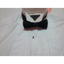 Camisa De Smoking - Hombre Con Moño Y Faja