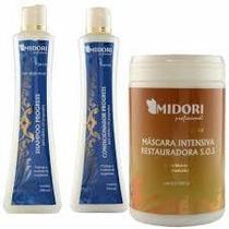 Kit Progress Midori Shampoo E Condicionador Máscara Sos 1k