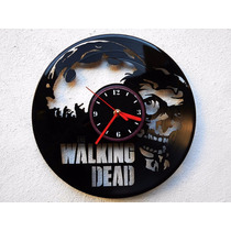 Reloj De Pared Disco Vinilo Vinil Acetato The Walking Dead