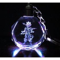 Llavero Led Cristal Goku Dragon Ball Z