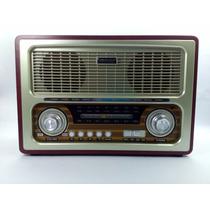 Radio Bluetooth Estilo Classico Retro Vintage Am Fm Sw Usb