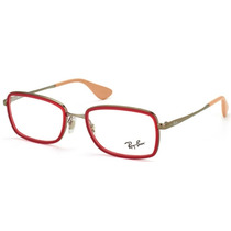Armazones Oftalmico Ray Ban Rb 6336 2856 Red Silver Beige