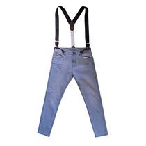 Jeans Slim Con Tiradores Jean Vernier 71114/23