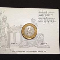 Moneda 200 Aniversario Del Natalicio De Benito Juárez Plata