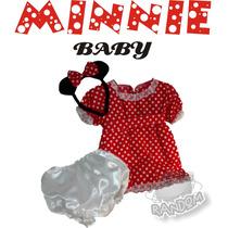 Disfraz Minnie Mouse Bebe Artesanal T 2 Años Jugue Random