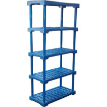 Estante Plastica 5 Prateleiras Reforçada P/ 250kg Cor Azul
