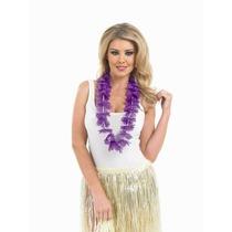 Disfraz Hawaiano Guirnalda C/flores Moradas Tema Hula Solter