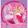 Kit Imprimible Barbie Y Las Zapatillas Magicas 2x1
