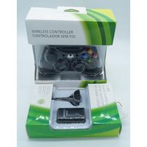 Manete Controle Joystick Sem Fio Wireless Xbox 360 + Bateria