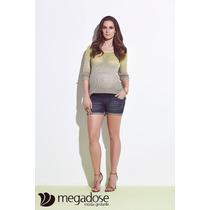 Shorts Jeans Megadose Moda Gestante / Grávida Mamma Bambino