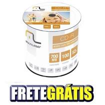200 Midia Cd-r Virgem Multilaser C/logo + Frete Grátis
