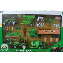 Kit 23 Peças Fazenda - Trator+animais+caminhão- Frete Grátis