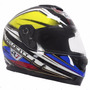 Casco Motociclista Abatible R7 Racing R7-107 Dot Amarilo