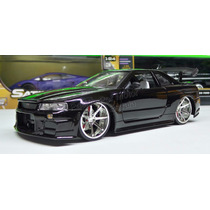 1:24 Nissan Skyline Gt-r34 2002 Negro Jada Display