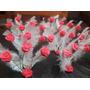 Combo 15 Centros De Mesa Rosas Con Pluma Casamiento Boda