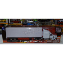 1:32 Peterbilt Model 379 C Caja Seca Blanco New Ray Trailer