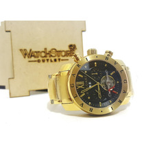Relógio Bugari Iron Man Automático Dourado (novo)