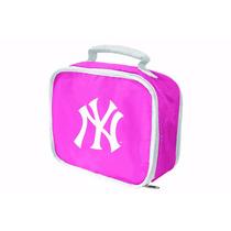 Lonchera Mlb Yankees Rosa Nueva York Maleta Cosmetiquera