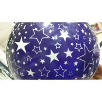 Globo Con Estrellas En Color Violeta