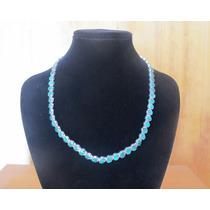 Conjunto, Collar, Pulsera Y Aros Malaquita En Plata 950