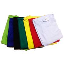 Camiseta Lisa Algodão 100% Fio 30.1 Melhor Que A Hering