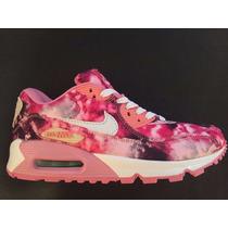 Zapatillas Nike Air Max 90 Mujer Floreadas
