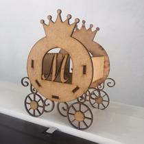 Carruagem Coroa Mdf Enfeite De Mesa Cachepô Com Letra