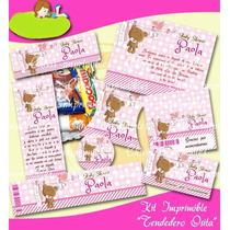 Kit Imprimible Baby Shower Osita Bbe Mesa De Dulces Postres