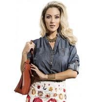 Blusa Despojada Jeans Lisa Feminina Principessa Brena
