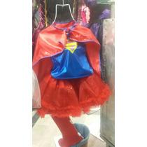 Disfraz Supergirl Niñas Tutus Hermoso Superchica