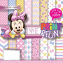 Kit Imprimible Pack Fondos Minnie Baby Clipart