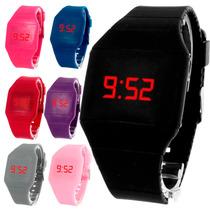 Lote De 10 Reloj Touch Relojes Silicon Led Delgado Mayoreo
