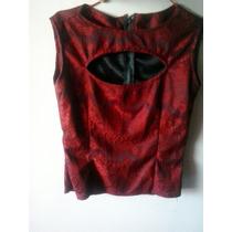 Camisas De Vestir Negra Y Roja