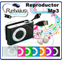 Reproductor Mp3 Micro Sd 8gb Auriculares Y Cable Usb Rebalus