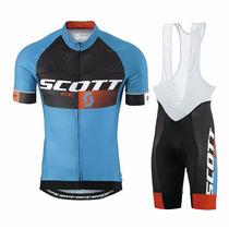 Uniforme Ciclismo Scott 2016 Jersey + Short Bib, Bici, Ruta