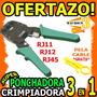 Wow Crimpiadora Ponchadora 3 En 1 Incluye Pela Cable Rj45