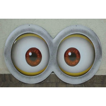 Òculos Minions Decoração Painel Cenário 80cm Mdf