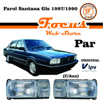 Farol Santana Quantum Gls 87 88 89 90 Com Milha Par