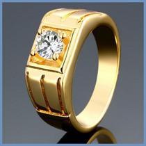 Anillo Grueso Mod. Camelot Oro 14k Para Caballero Hombre