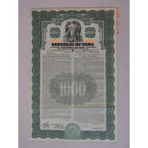 Bono De La Deuda Exterior De Cuba, 4½%, $1,000 Dólares, 1937