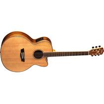 Guitarra Washburn Acustica Wj-55 Sce Jumbo